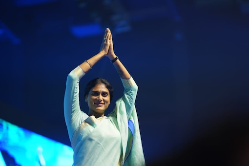 YS Sharmila Reddy at the party launch event.