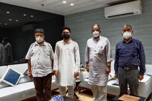 The delegation of Gorkha Janmukti Morcha met MP Abhishek Banerjee and Moloy Ghatak, MIC, PWD and Law & Judiciary.