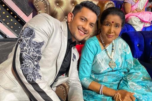 Aditya Narayan and Asha Bhosle