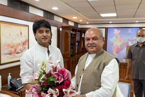 Jyotiraditya Scindia, a prominent leader from Madhya Pradesh, was sworn in as a cabinet minister on Wednesday