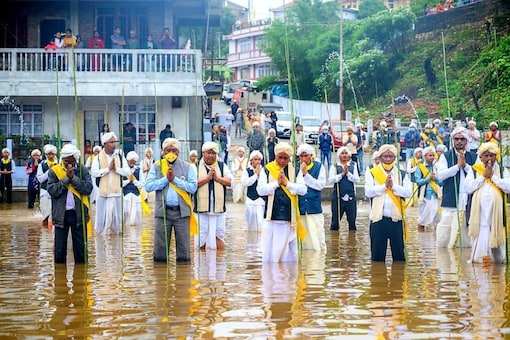 The Behdienkhalam festival is an invocation to God, seeking his blessings for a bumper harvest.