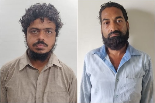 Photos of the two arrested terrorist accused Minhaz Ahmed and Masiruddin aka Mushir.