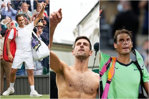 Roger Federer (L), Novak Djokovic (C) and Rafael Nadal. (Photo Credit: Reuters and AP)
