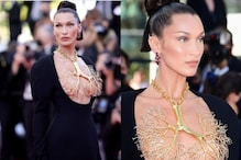 Bella Hadid's Golden Lung Necklace Turns Heads at Cannes Film Festival; See Photos