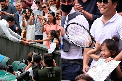 Wimbledon: Novak Djokovic Gifts Racket to a Young Fan (AP, Instagram)