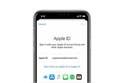 Apple ID image used for representation. (Image Credit: Apple)