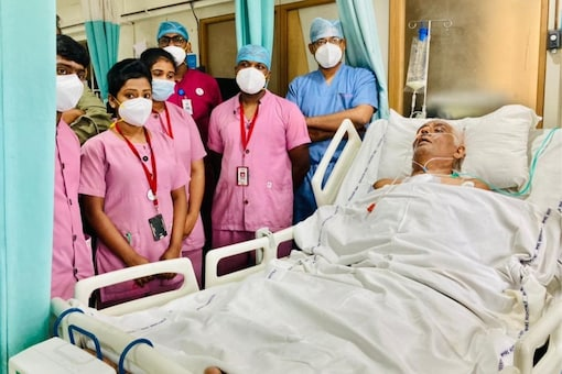 Ganesh Prasad, 63, is the longest surviving Covid patient in the country.