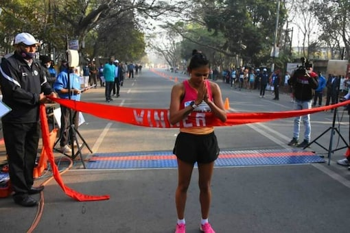 Priyanka Goswami is an Indian track athlete who would take part in the 20km race walking event (Instagram)