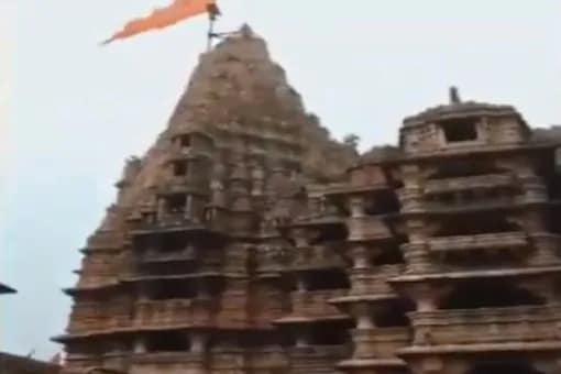 Flag Mast Of Gujarat's Dwarkadhish Temple Damaged After Lightning Strike