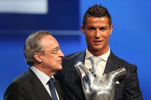 Florentino Perez (L) and Cristiano Ronaldo (Photo Credit: Reuters)
