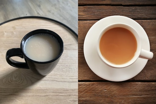 The woman shared the almost white cup of tea her boyfriend made. (Credit: reddit )