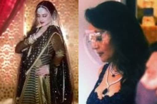 Rekha and Madhuri Dixit Get Clicked While Shooting for Dance Deewane 3