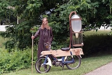 Dutch Inventor Modifies His Motorcycle to Run on Methane Extracted from Pond