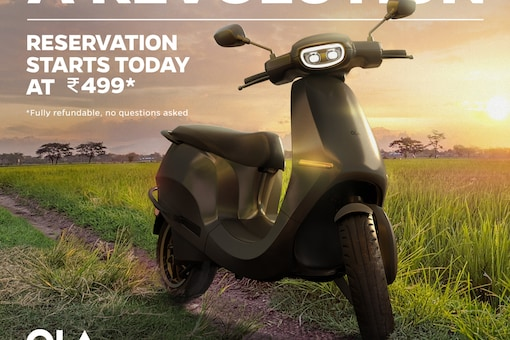The bookings for the upcoming Ola Electric Scooter has started in India. (Photo Courtesy: Twitter/OlaElectric)