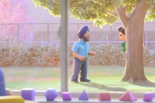 The Sikh character in 'Turning Red' trailer. Credit: Screengrab from YouTube/Pixar