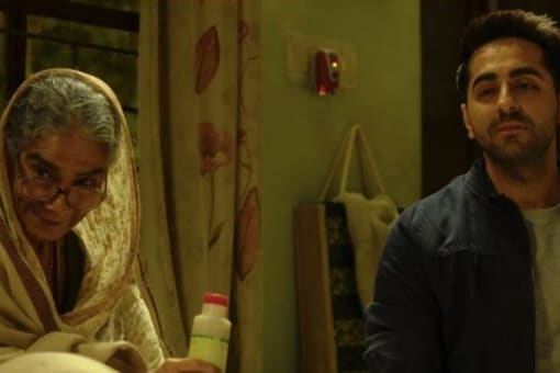 """Ayushmann and Surekha worked together in the 2018 hit """"Badhaai Ho"""", where the late actress played his cantankerous grandmother."""