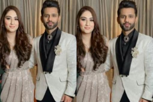 First Pic of Newly Weds Rahul Vaidya, Disha Parmar from Their Reception