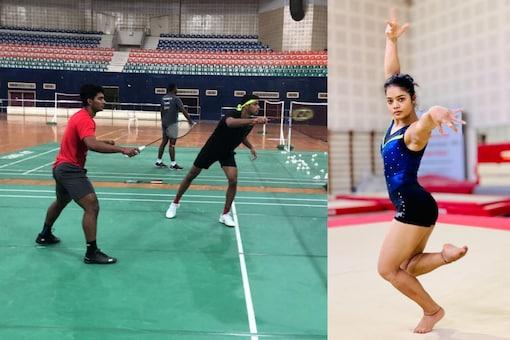 Doubles pair of Satwiksairaj Rankireddy-Chirag Shetty and gymnast Pranati Nayak (IANS)