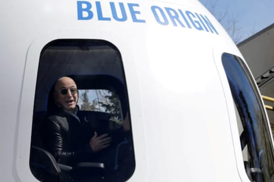 This will be the first flight of Blue Origin's New Shepard system featuring a human crew