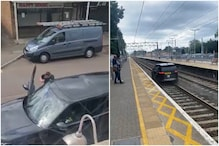 Car Thief Races on Railway Tracks to Flee from Cops, Abandons it Midway