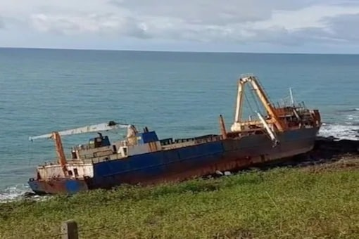 The abandoned ship sailed in Atlantic ocean for 18 months before touching the shore at Ballycotton