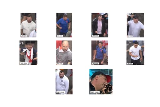 Images of the 10 men released by Police