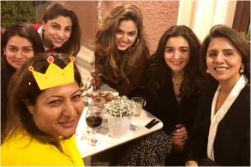 Alia Bhatt and Neetu Kapoor have a loving moment together in this unseen picture from a get together