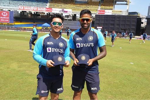 Ishan Kishan and Suryakumar Yadav made their debut in the first ODI against SL. Photo: BCCI