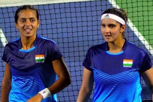 Sania Mirza (R) and Ankita Raina will play women's doubles at the Tokyo Olympics. (Raina Instagram Photo)