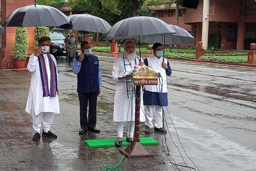 PM Narendra Modi addresses the media ahead of start of Monsoon Session.