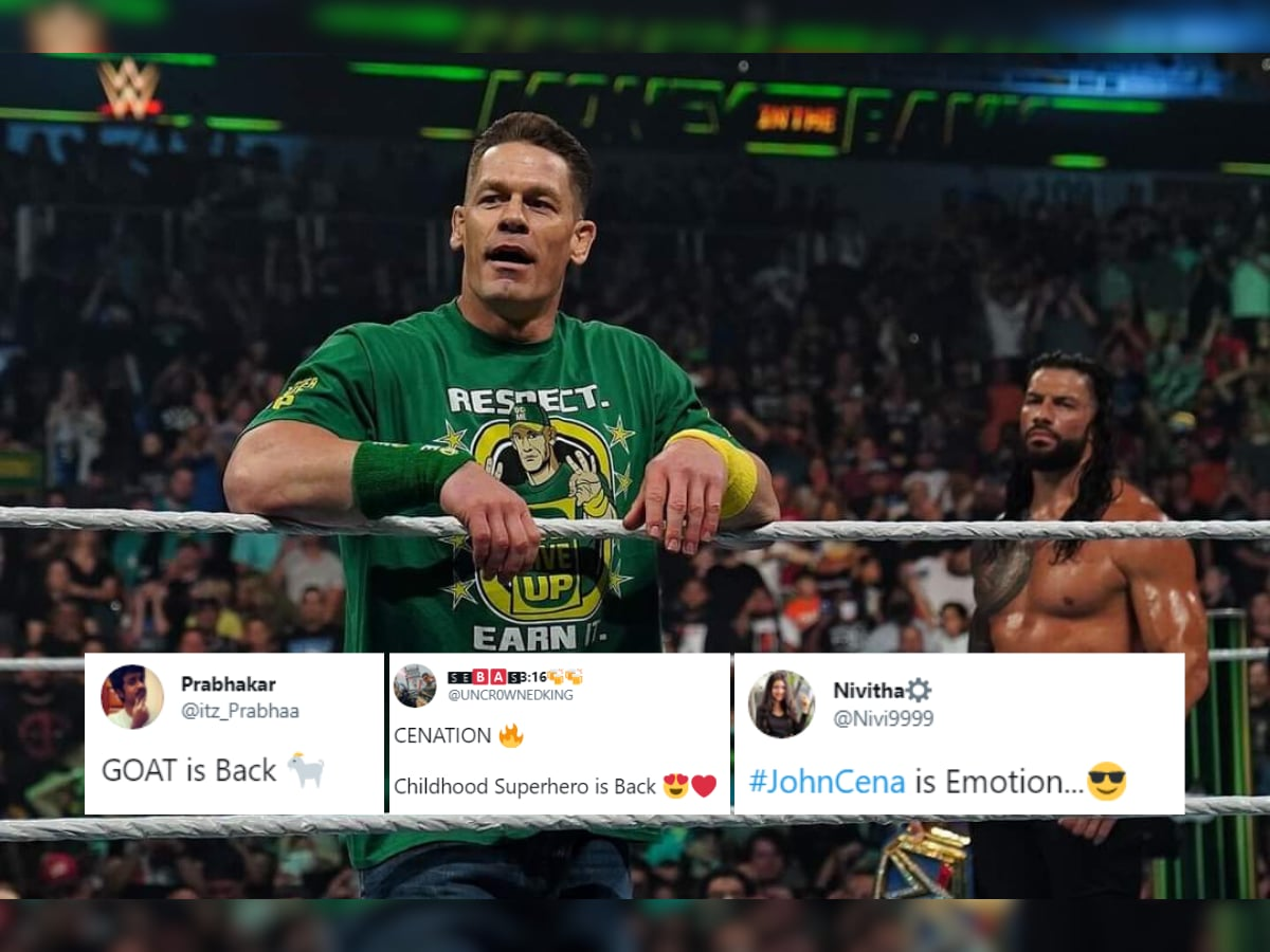 Wwe Fans Sent Into A Frenzy As John Cena Makes A Shocking Return At Money In The Bank See Reactions