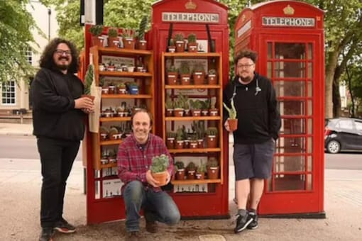 Old telephone booth put up for sale at £35000.