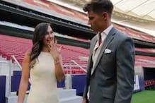 Spanish Football Star Marcos Llorente Stuns Girlfriend with On-field Proposal