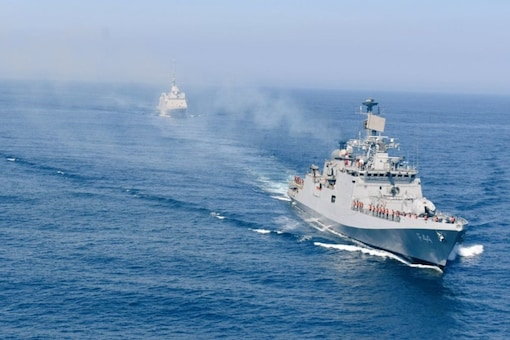 INSTabar undertook Maritime Partnership Exercise with French Navy Frigate FS Aquitaine, in Bay of Biscay 15-16 Jul 2021.