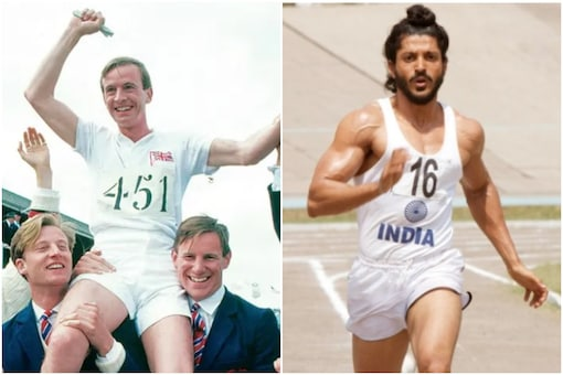 Still from the movies, Chariots of Fire (left) and Bhaag Milkha Bhaag.