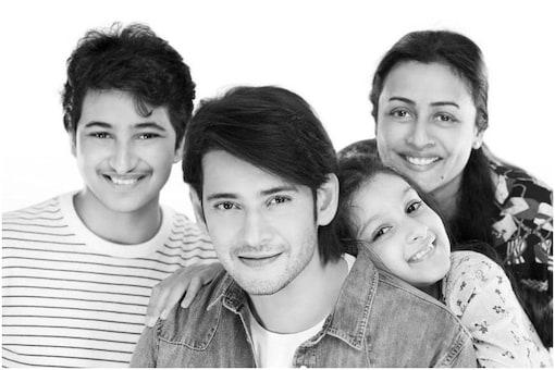 Mahesh Babu with family