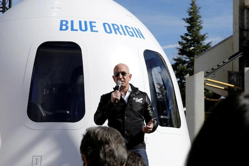 Jeff Bezos said he was excited but not nervous ahead of the flight to space.