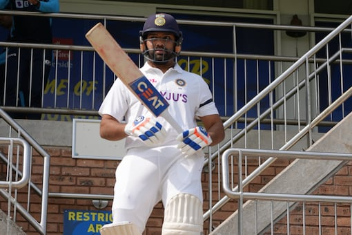Rohit Sharma is leading the Indian team in the warm-up game against England Select County XI in Durham. Photo: BCCI