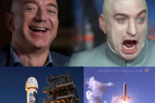 Jeff Bezos was compared to Dr Evil from Austin Powers. (Image Credits: Twitter/@OpenMindHC)