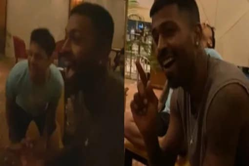 The Indian side were seen holding a singing session as part of their celebrations in Sri Lanka.