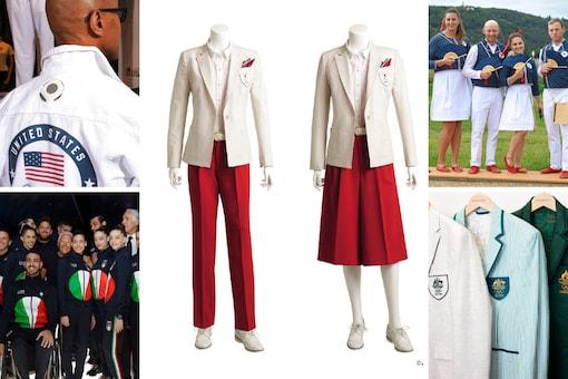 Tokyo 2020 apparel for Czech Republic, Italy, USA, Australia and Japan (AP)