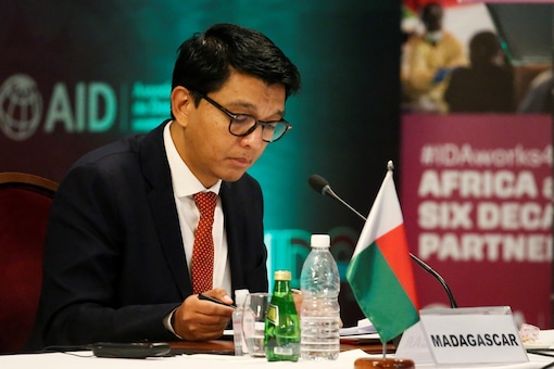 Madagascar's President Andry Rajoelina attends a meeting in Abidjan, Ivory Coast. (Reuters)