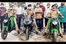 Goa Police Adds Kabira Mobility's KM3000, KM4000 Electric Motorcycles to its Fleet
