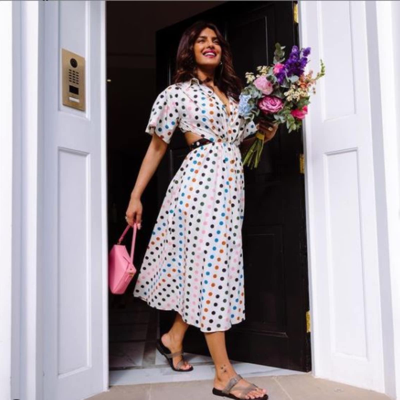 Priyanka Chopra Steps 'Into a Better Future' With Polka Dot Dress, See  Photos