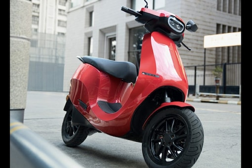 Upcoming Ola Electric Scooter in red colour option. (Image: Ola Electric)
