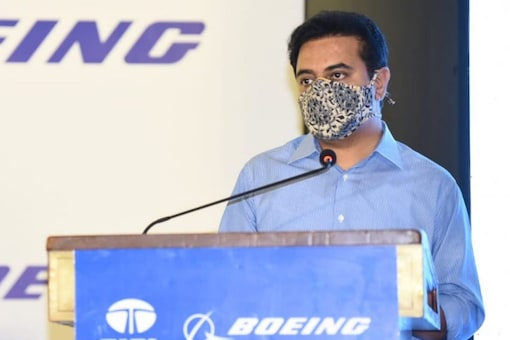 Telangana Minister KT Rama Rao, and senior officials from Boeing and TASL were present to mark the delivery milestone.