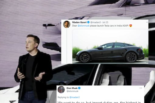 Twitter user and YouTuber Madan Gowri reached out to Tesla chief Elon Musk himself to demand the entry of electric cars in India. (File image by Reuters)