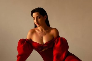 Nora Fatehi Looks Uber Sexy In Red Dress, See The Diva's Drop-Dead Gorgeous Pictures