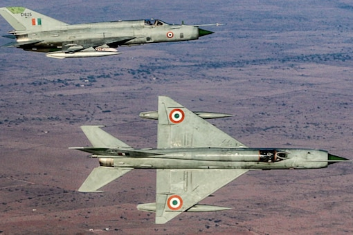 MiG-21s from the Hawkeyes returning from a training mission. Photo credit: Group Captain Gunasekhar