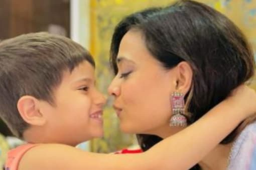 Actress Shweta Tiwari took to Instagram to share pictures with her son Reyansh.